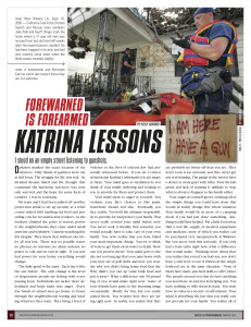 Kelly Alwood Tactics and Preparedness magazine article
